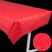 Pappersduk damast 1,2x8m Röd