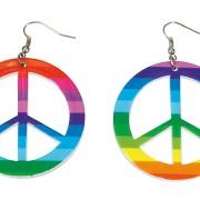 Örhängen peace regnbåge