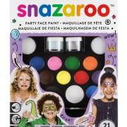 Ansiktsfärg-set 21 delar Snazaroo ultimate partypack