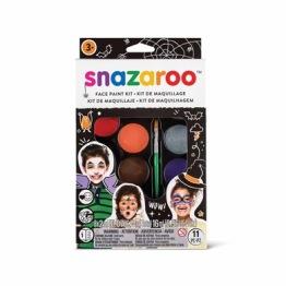 Ansiktsfärg-set 11 delar Snazaroo halloween -