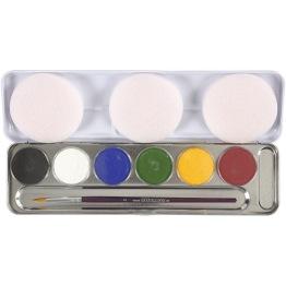 Ansiktsfärg-set 6 färger -