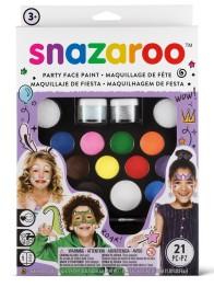 Ansiktsfärg-set 21 delar Snazaroo ultimate partypack -