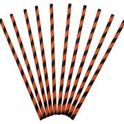 Sugrör av papper 24p orange/svart