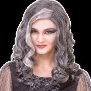 Peruk lockig grå