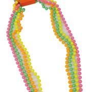 Pärlhalsband 4p neonfärger