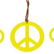 Hippie halsband/örhängen peace
