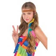 Hippie hårband med pärlor & fjädrar