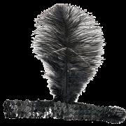 20-tals hårband med fjäder