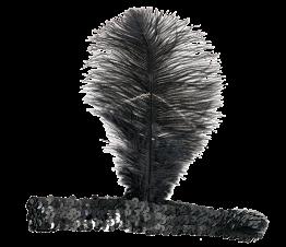 20-tals hårband med fjäder -