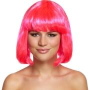 Peruk rosa bob cut vuxna