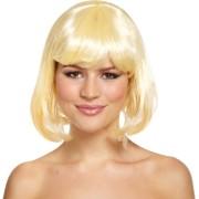 Peruk blond bob cut vuxna