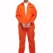 Dräkt fånge vuxna one-size