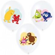 Ballonger 27cm 6p 4-färgstryck Babblarna
