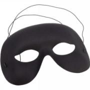 Ansiktsmask svart halv vuxna