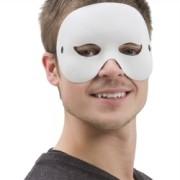 Ansiktsmask vit halv vuxna
