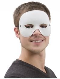 Ansiktsmask vit halv vuxna -
