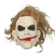 Latexmask Joker med hår vuxna