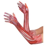 Handskar långa blodiga one-size