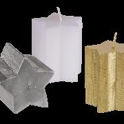 Stjärnljus pärlvit/silver/guld