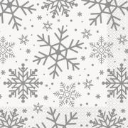 Servetter 33x33cm 16p Snowflake