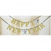 Banner glitter Happy new year