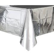 Bordsduk av plast 135x270cm SIlverfolie