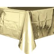 Bordsduk av plast 135x270cm Guldfolie