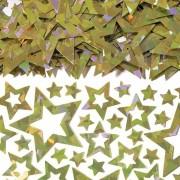 Konfetti 14g Holografiska stjärnor guld