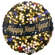 Folieballong 46cm Happy new year