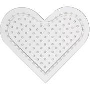Pärlplatta H: 8 cm, litet hjärta