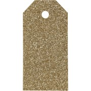 Manillamärken, stl. 5x10 cm, 300 g, guld, glitter, 15st.