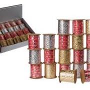 Band med glitter 10mmx3m Röd
