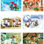 Julkort enkla 15st blandade motiv