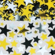 Konfetti 14g Stars guld/silver/svart