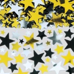 Konfetti 14g Stars guld/silver/svart -