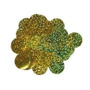 Konfetti folie 10mm 14g holografisk guld