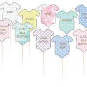 Picks 10p babyshower clothes olika design