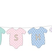 Banner 3m Babyshower clothes