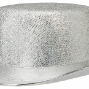 Top hatt glitter silver