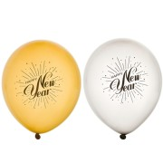 Ballonger 30cm 8p Happy new year silver/guld