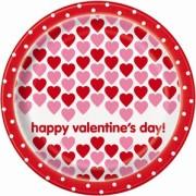 Papperstallrikar 23cm 8p Valentine's day