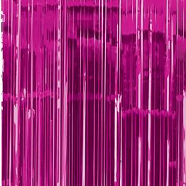 Foliedraperi Cerise - Draperi 90x240cm Cerise