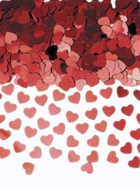 Konfetti 14g Red hearts -