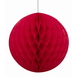 Honeycomb 20cm Röd -
