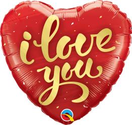Folieballong 45cm Heart I love you -