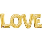 Folieballong Gold Love (63 x 22cm)