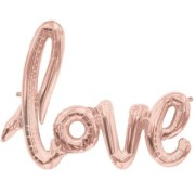 Folieballong Rose gold love