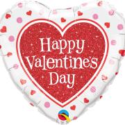 Folieballong 45cm Glitter Valentine's heart