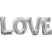 Folieballong Silver Love (63 x 22cm)