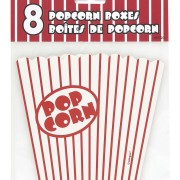 Popcornbox 8p Red striped